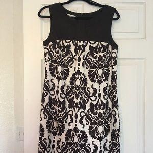 Dress barn brown and cream paisley dress size 10